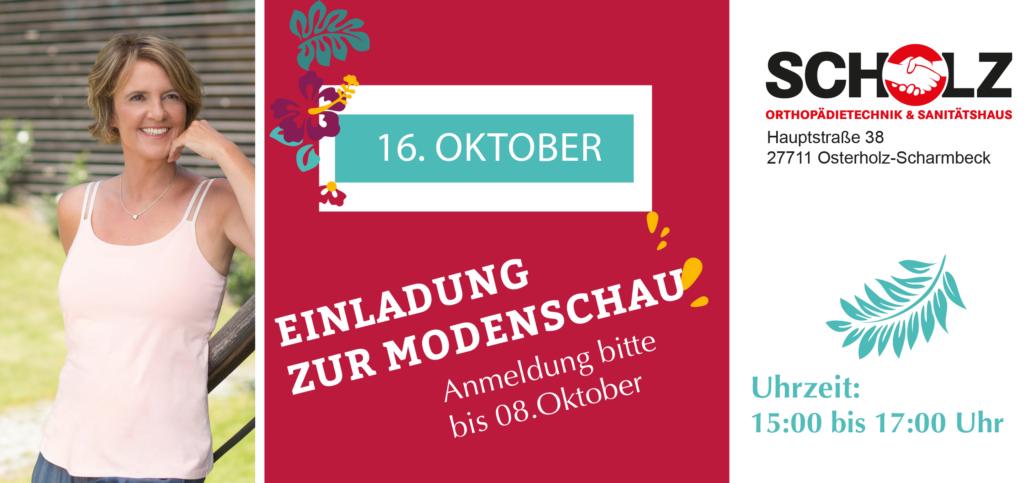 Scholz Orthopädietechnik & Sanitätshaus / ABC Breast Care Modenschau Herbstkollektion am 16.10.2019 15-17 Uhr
