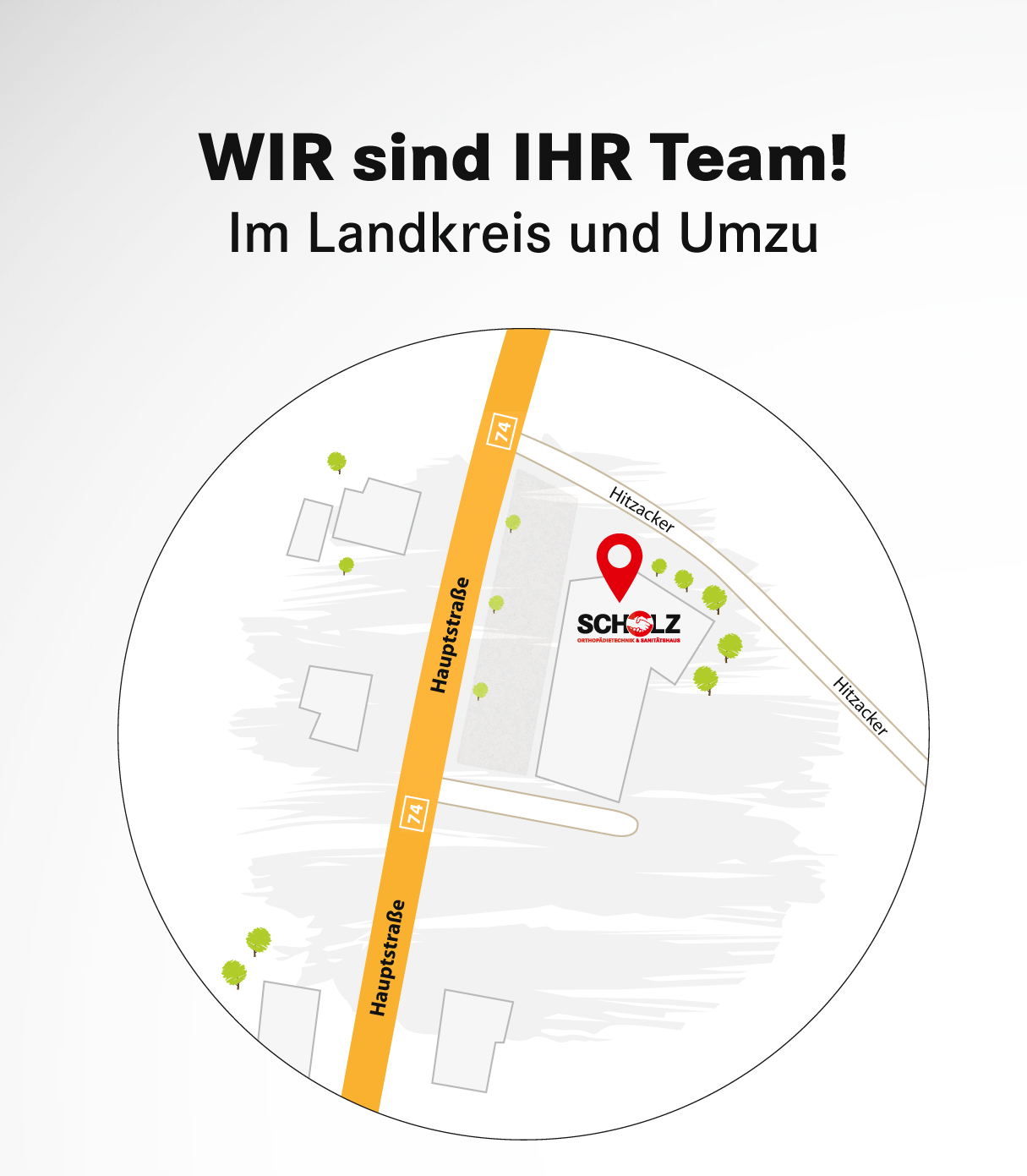 Scholz Orthopädietechnik und Sanitätshaus Anfahrtskizze